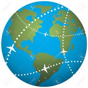 7974585-rutas-de-vuelo-de-avi-n-mundo-de-tierra--Foto-de-archivo